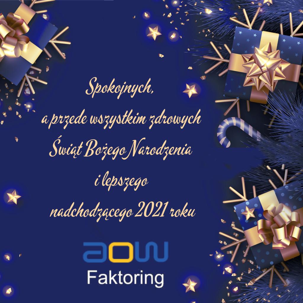 Wesołych świąt i lepszego nowego roku życzy AOW Faktoring S.A.